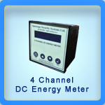4- Channel DC energy meter